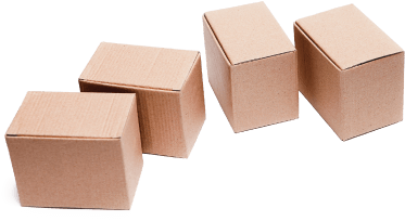 photo of four boxes lined up