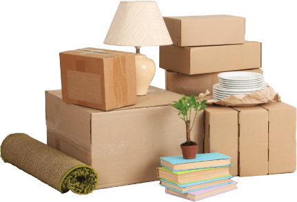 image of packaged home items ready to be moved