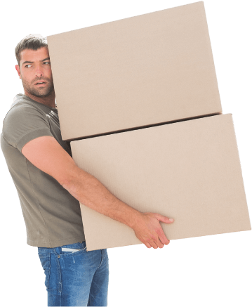 image of a professional london mover carrying two boxes