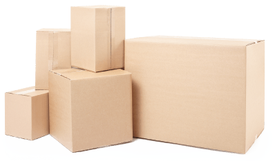 image of packing boxes piled on top of each other