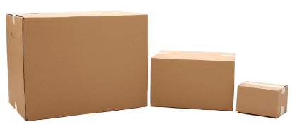 image of three different size boxes