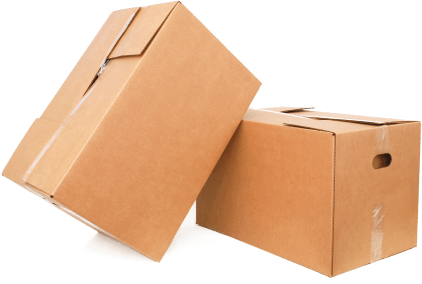 image of two cardboard boxes